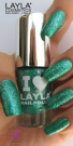 Nagellack LAYLA I Love Layla GLITTY GREEN 11