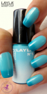 Nagellack LAYLA THERMO COLOUR 01 - DARK TO LIGHT BLUE