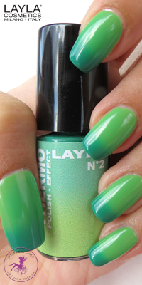 Nagellack LAYLA THERMO COLOUR 02 - DARK TO LIGHT GREEN
