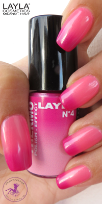Nagellack LAYLA THERMO COLOUR 04 DARK TO LIGHT PINK