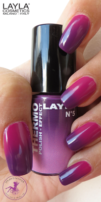 Nagellack LAYLA THERMO COLOUR 05 DARK TO LIGHT VIOLET