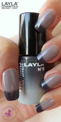 Nagellack LAYLA THERMO COLOUR 08 BLACK TO GREY