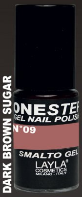 DARK BROWN SUGAR 09- ONE STEP GEL POLISH NAGELLACK