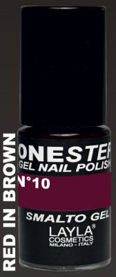 RED IN BROWN 10- ONE STEP GEL POLISH NAGELLACK