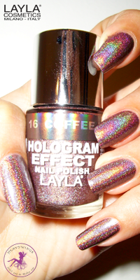 Nagellack LAYLA Hologram Effect COFFEE LOVE 16
