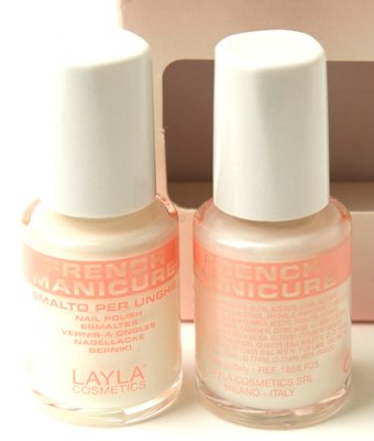 Layla French Manicure WHITE PEARLY 02 fransk manikyr set