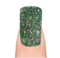 uv gel polish grön glitter